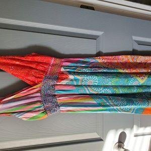 Multi colored sleeveless dress